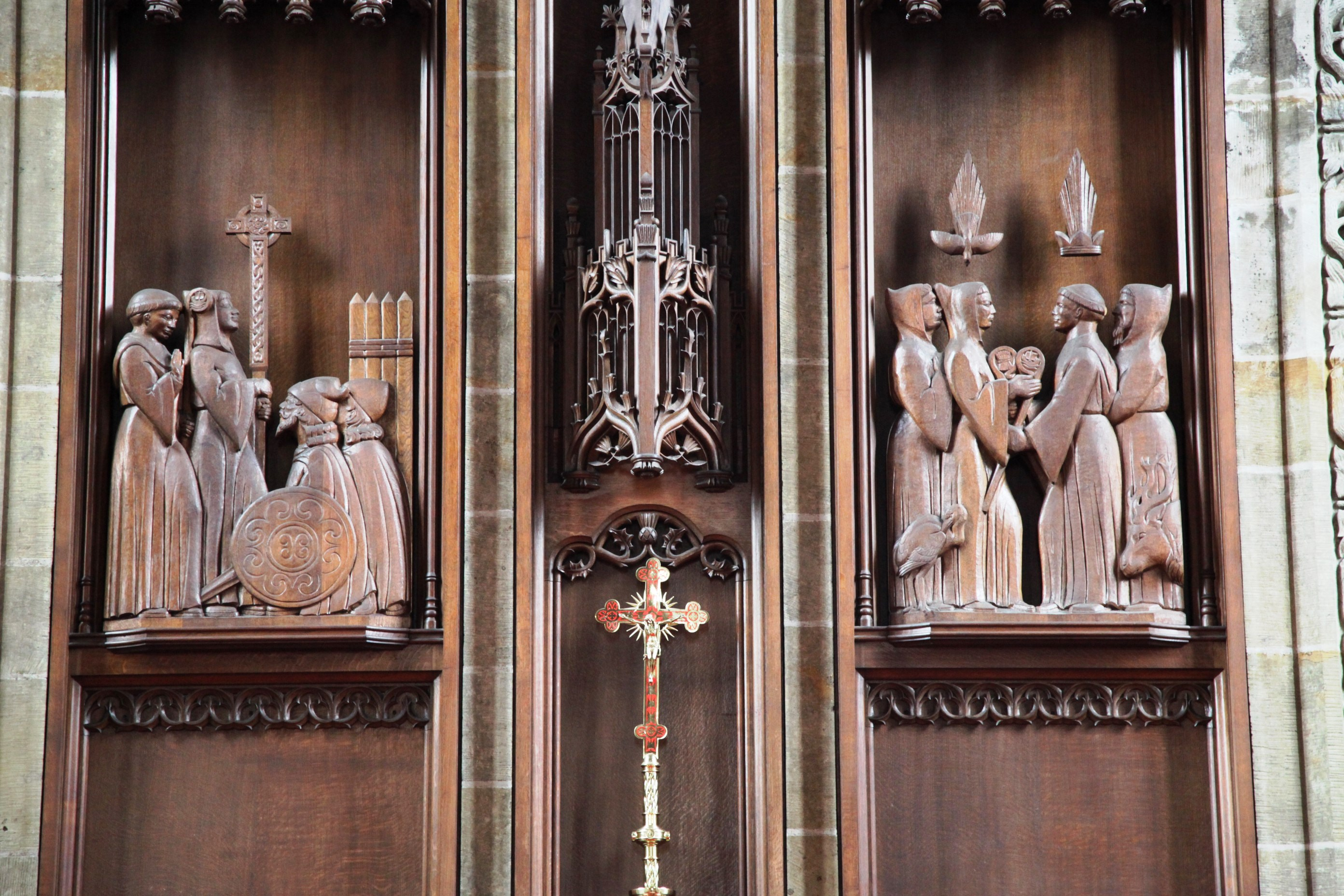 St Columba's Cathedral Wood Carving