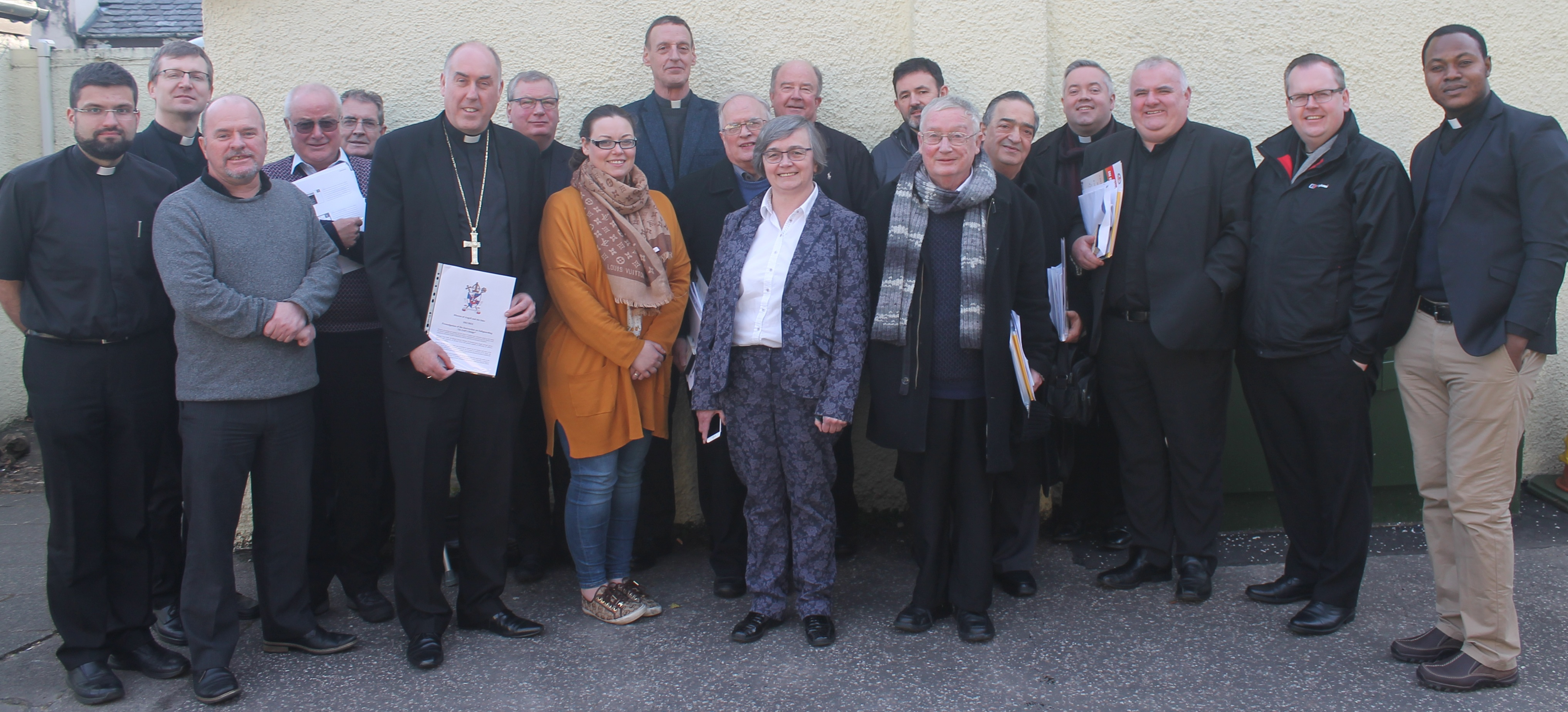 Clergy Assembly and signing of New Safeguarding Manual by Bishop Brian