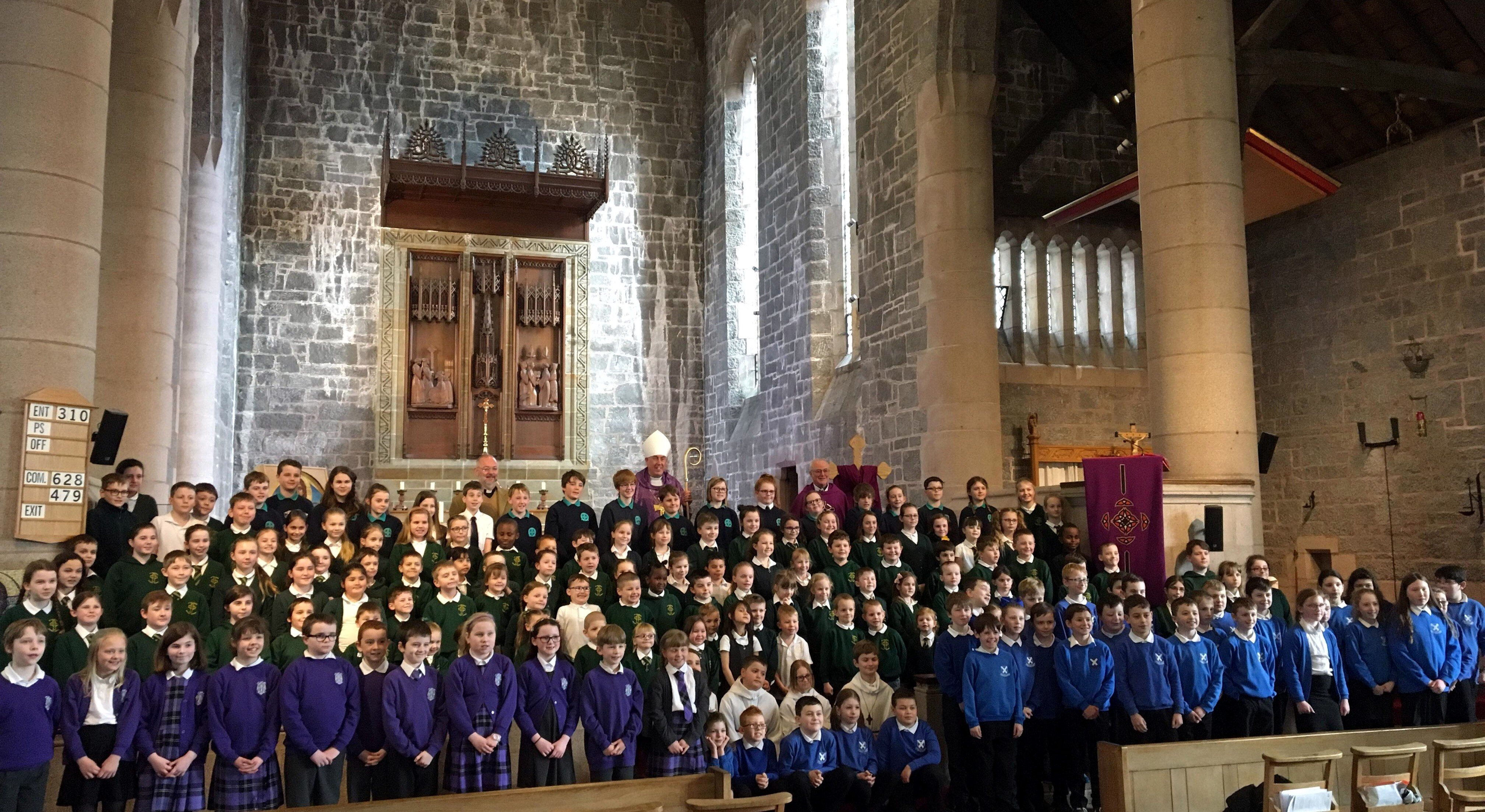 Mass of Thanksgiving for 100 years of Catholic State Schools in Scotland.