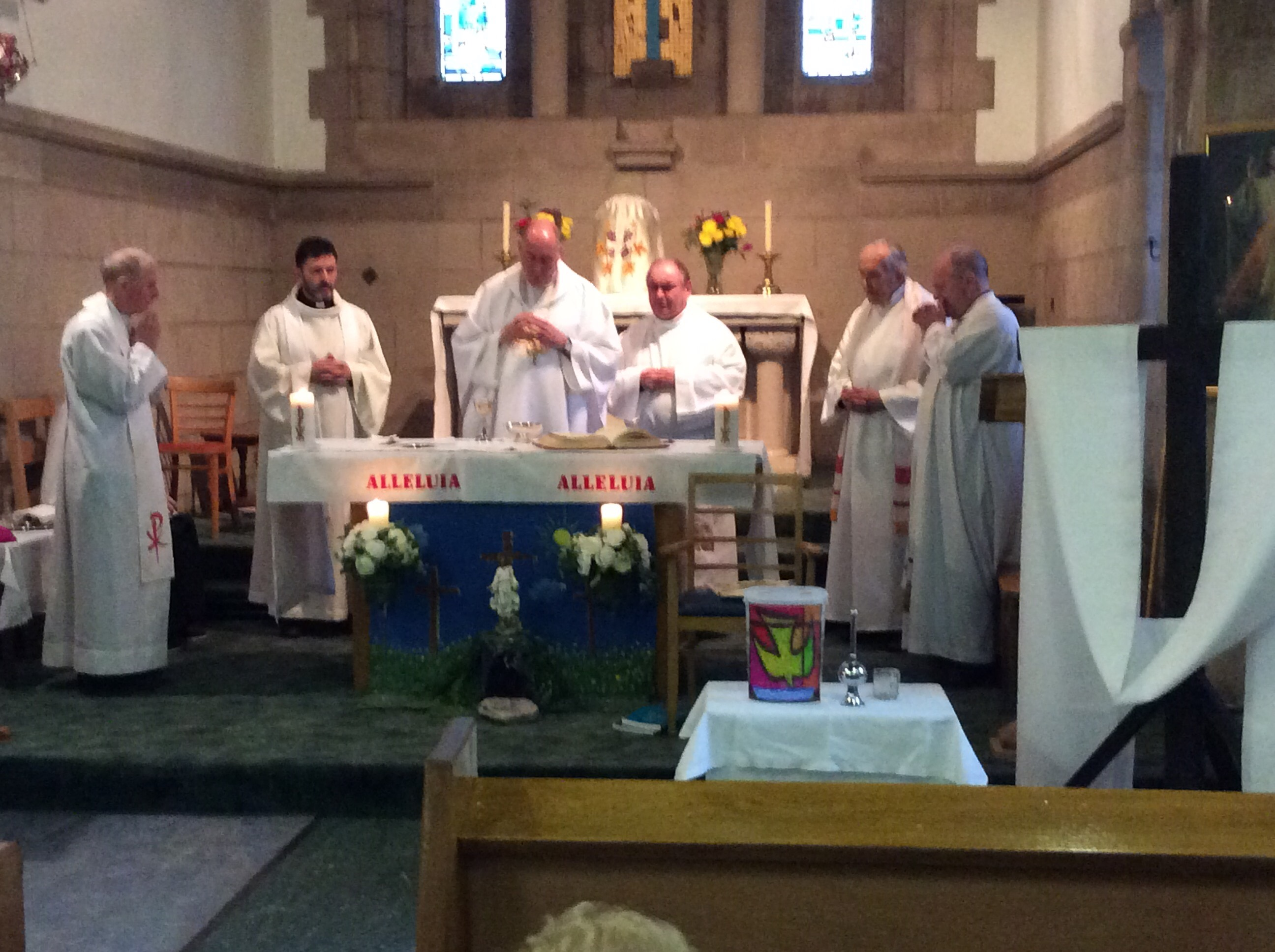 Fr. Paul Hackett  S.J. : Mass of Thanksgiving as he retired from parish duties.