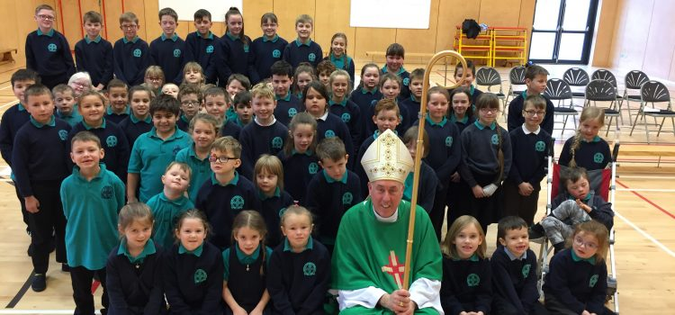 Bishop Brian's visit to St Columba's Primary School